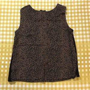 ❤️ 3 for $15 leopard print sleeveless blouse top